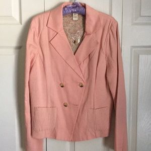 Sundance Blazer Pink with Sweater Panels size 14